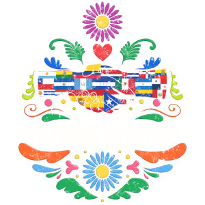 National Hispanic Heritage Month Vintage Hände