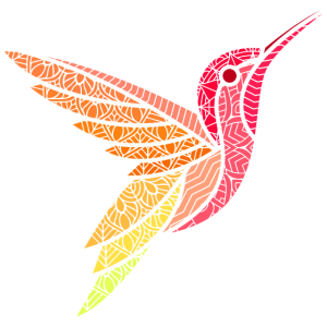 Kolibri Vogel Tier Mandala Vögel Design Kunst