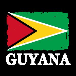 Guyana Flagge - Flag of Guyana - Shabby Look