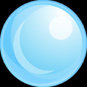Luftblase Blau