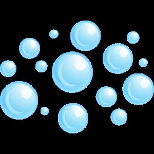 Luftblasen Blau
