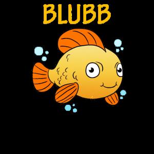 Blubb Goldfisch Süßer Fisch Aquarium Fischchen