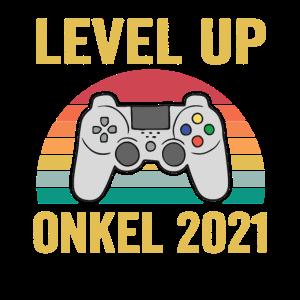 level up onkel 2021 Geschenk für werdende Herren