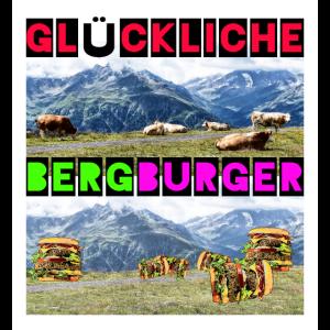 Glückliche Berg Burger