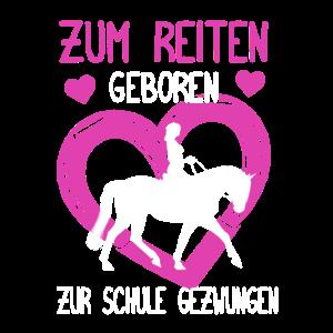 Pferd Reiten Reiter Reiterin Schule Herz Geschenk