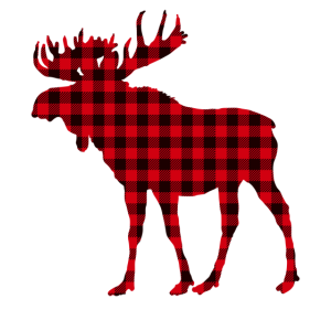 Elch-roter Karierter Büffel-passender Pyjama