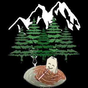 Naturfreund Genießer Teebeutel Raucher Gebirge