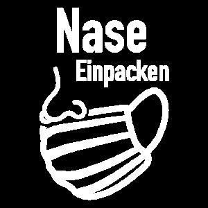 Lustiges Nase einpacken Trend Design