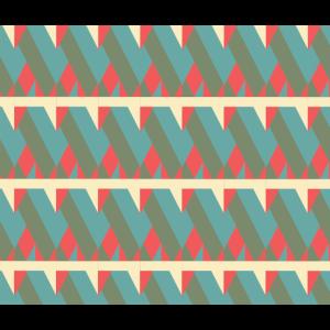 Dreieck Muster mit Retro Farben
