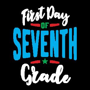 Erster Tag der 7. siebten Klasse Zurück zur Schule