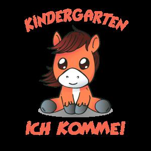 Kindergarten Anfang Kind Pferd Geschenk