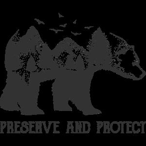 Bär Naturschutz Tierschutz Tattoo Art Öko Umwelt