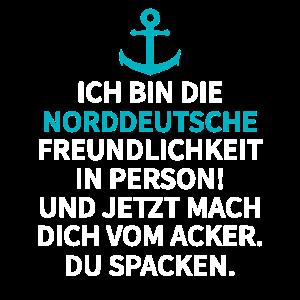 Norddeutsche Spruch Anker Norden Geschenk