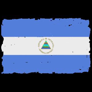 Nicaragua Flagge - Flag of Nicaragua - Shabby Look