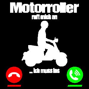 Motorroller Rollerfahrer Ruft an Lustiger Spruch