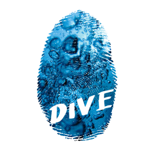 Dive Luftblasen Fingerprint
