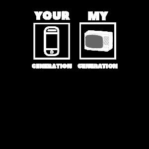 Generation Humor Technik TV handy Geschenk