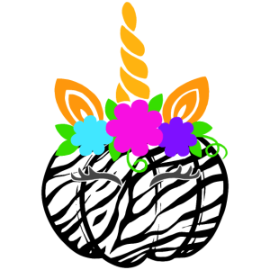 Nettes Einhornkürbis-magisches buntes Halloween