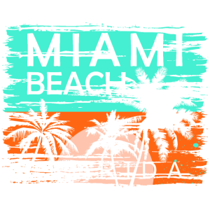 Florida Miami Beach Geschenk Strandmode Surfer