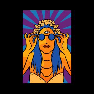 Hippie Person Geschenk