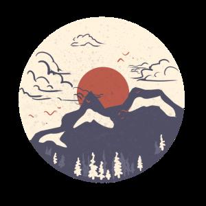 Japanische Berglandschaft