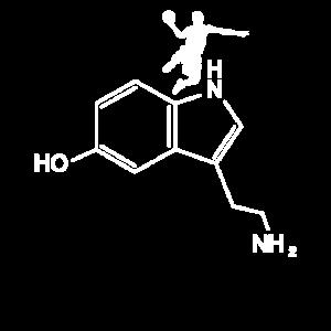 Serotonin Basketball chemische Strukturformel