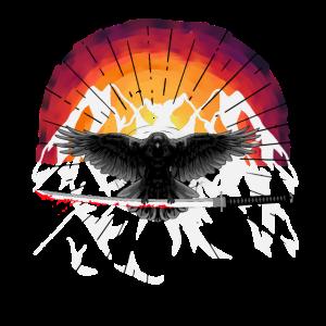 Schwert Katana Krähe Rabe Fantasy Auferstehung