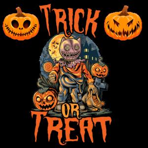 Trick or treat Monster Sammler Kürbis Halloween