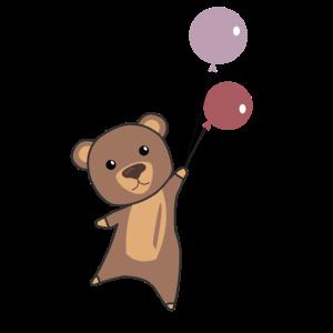 Bär Luftballon Ballon fliegen süßes Tier Bärchen