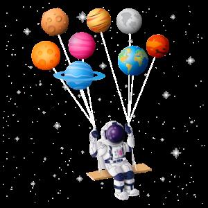 Astronaut Planet Schaukel Sonnensystem Sonne Erde