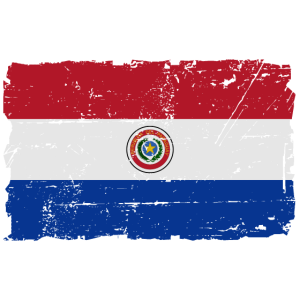 Paraguay Flagge - Flag of Paraguay - Shabby Look -