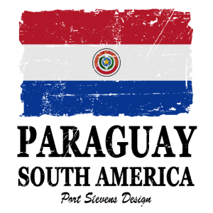 Paraguay Flagge - Flag of Paraguay - Shabby Look