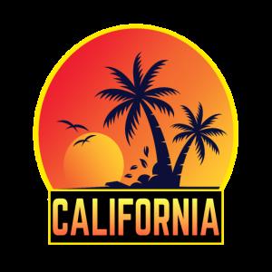 Kalifornien Strand Palmen Strand Beachparty