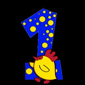 1. Geburtstag Baby Kleinkind Geschenk süss Kücken