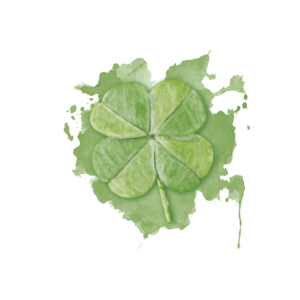 Kleeblatt,Glück, St. Patrick, Aquarell,farbklecks