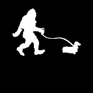 Bigfoot Mit Einem Dackel