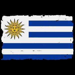 Uruguay Flagge - Flag of Uruguay - Shabby Look