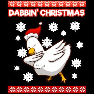 Dabbin Christmas Chicken Farmer Kids Dab Xmas Span