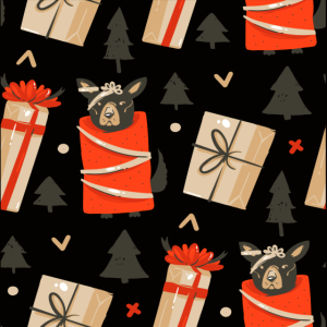 Weihnachten Geschenke Hund