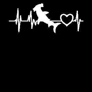 Liebe Hammerhai Hai Herzschlag