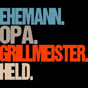 Opa Grillmeister Grillkönig Spruch Geschenk