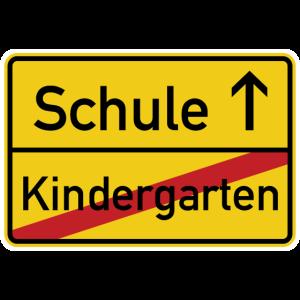 Kindergarten Schule Ortsschild - Einschulung