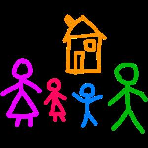 Kinderbild Familie und Haus