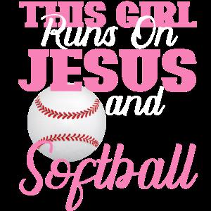 Dieses Mädchen Jesus und Softball