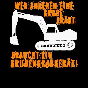 Grubengrabgerät, Bagger, Baggerfahrer Geschenkidee