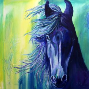 Pferdekopf, horsehead, vollblut