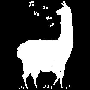 Lustiger Lama Tierlama Lama-Liebhaber Lied Gesangs