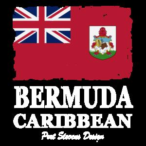 Bermuda Flagge - Flag of Bermuda - Shabby Look