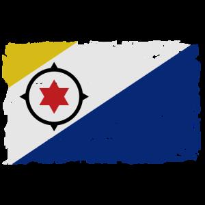 Bonaire Flagge - Flag of Bonaire - Shabby Look