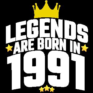 1991 Jahrgang Legende Geburtstag